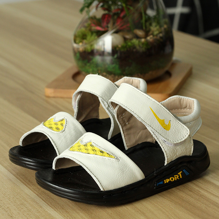 2014 NEW ARRIVAL COOL FASHION VELCRO SPORTS COMFORTABLE LEATHER SANDALS FOR BOYS AND GIRLS Retail / Wholesales KLL 005(China (Mainland))