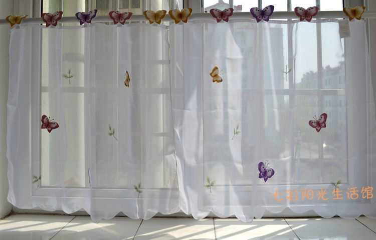 Petit papillon simple rideau blanc cuisine rideaux fen tre for Rideaux fenetres cuisine