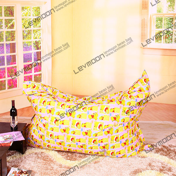 Фотография FREE SHIPPING 140*180CM  bean bags cover 100% cotton bean bag chairs fabric bean bag furniture yellow color the bean bag