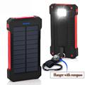 Solar Power Bank 10000mah Dual USB Portable Charger Shock drop resistance Outdoor Travel EXternal Battery Powerbank
