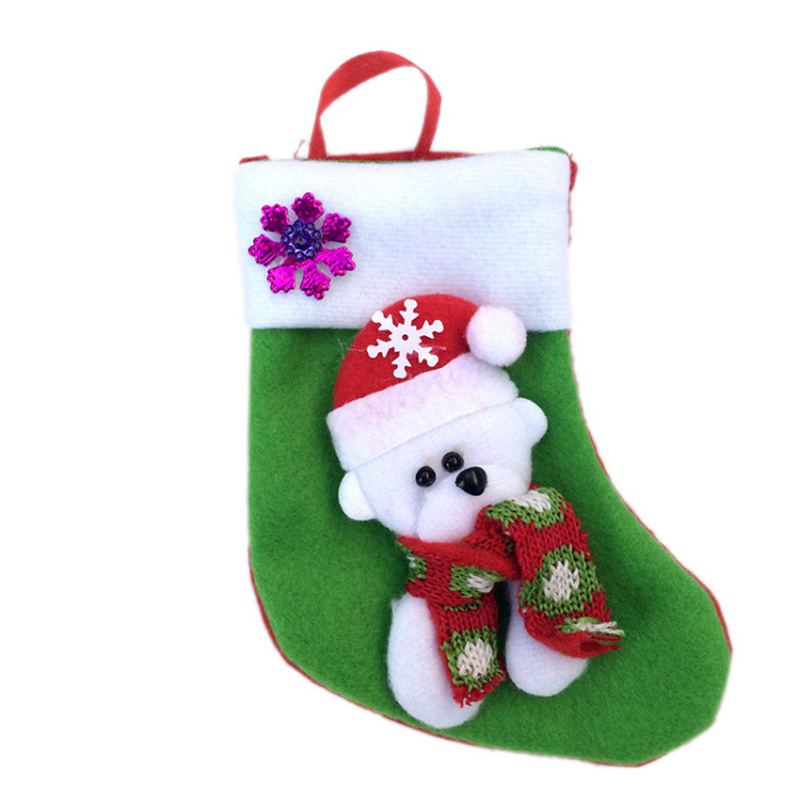 2016 New Year Christmas Stockings Gift Holders Candy