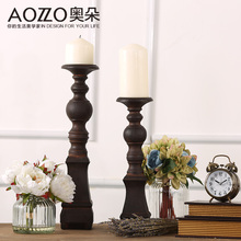 Aldo European American retro resin Candlestick candle inside the living room decoration decoration Home Furnishing(China (Mainland))