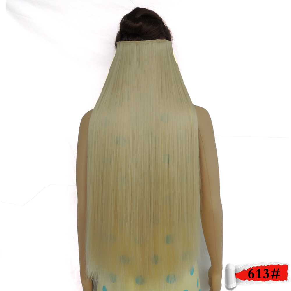 blonde hair extensions clip in extensiones haar extension synthetic super long expression straight s