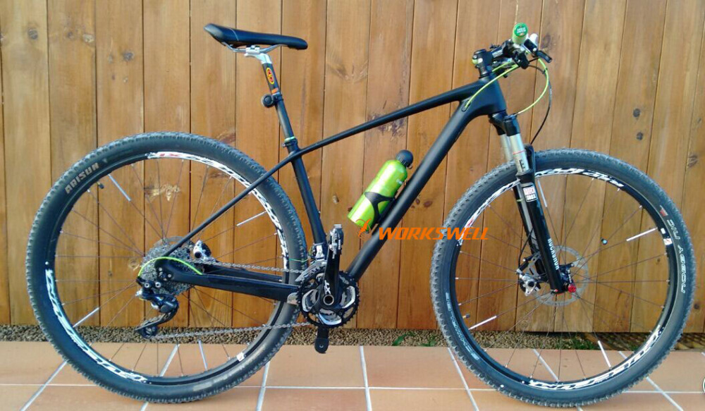 instock 29er carbon MTB bicycle full fiber frame 142mm 12mm thru axle 135mm 9mm - Shenzhen Workswellbikes Sports Co., Limited store