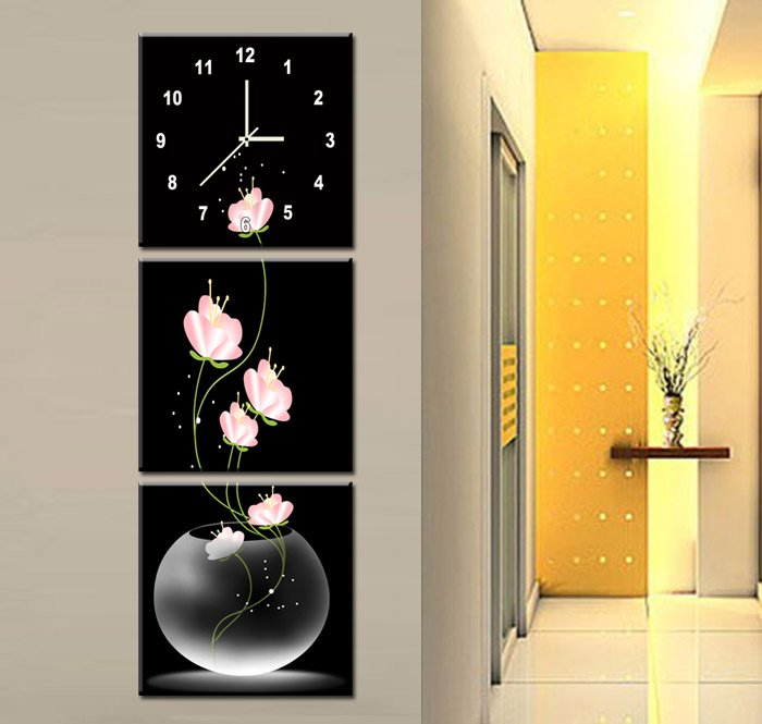 Dhl Free Shipping 1 Set Sanlian Outfit Art Wall Clock Household Adornment The Best Choice 10