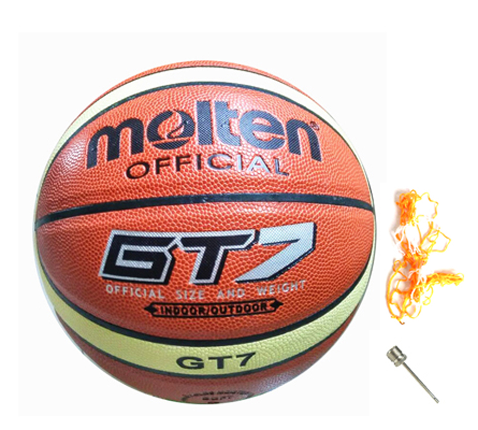 Offical Indoor And Outdoor gt7 Basketball Ball Training Equipment Size 7 PVC Material Molten GT7 Basketball With Free GIFTS(China (Mainland))