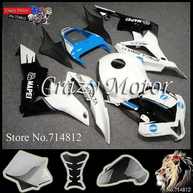 * white black CBR600RR 2007 2008 INJ 2007-2008 Fairings INJECTION MOLD Body Kit Fairing Honda CBR 600 RR - Crazy Motor store