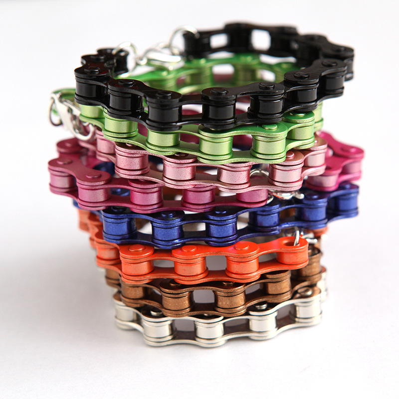 Fashion Punk Series Of Metal Bicycle Chain Fluorescent Charm Bracelet For Women And Men(China (Mainland))