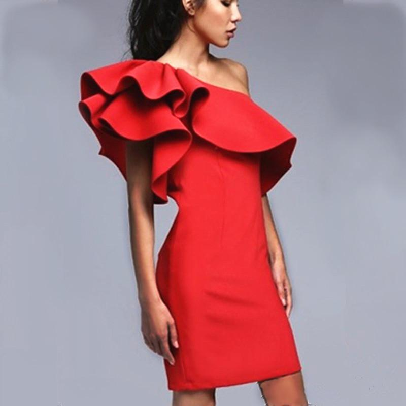 Как сшить платье с воланом фото