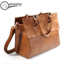 Nubuck Cow Leather 100% +PU Leather Vintage lady's evening bags brand woman genuine leather handbag famous designer handbags