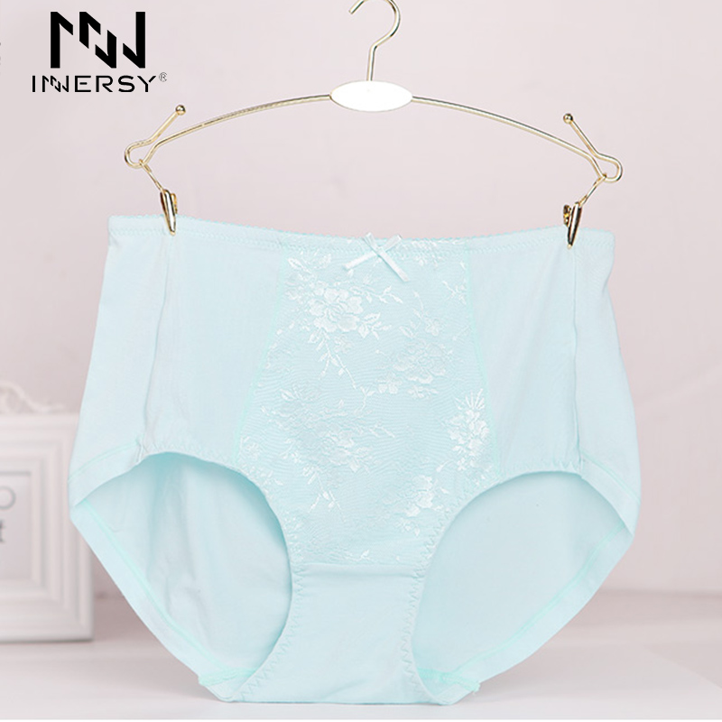 Innersy 2016 Brand Briefs Lace Underwear Girl's Panties Large Size Briefs Sexy Women Briefs Breathable Panties Plus Size Panty(China (Mainland))