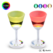 1PCS Novelty Led Lamp RGBW Light Wineglass Style Dimmer Touch Table Lamp For Home Art Decor Lighting(China (Mainland))