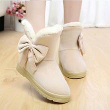 Nuevas botas de nieve mujeres con las mujeres del arco botas de mujer niñas moda de invierno de arranque caliente zapatos cómodos mujer caliente de la venta 2016 TVS905(China)
