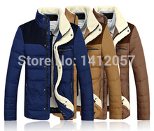2015 Promotion Sale Parka Men Winter New Arrival Freeshipping Conventional Duck Down Woven 70% Stand Men's Jacket Fashion Coat