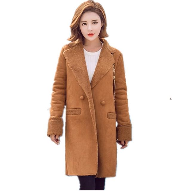 2016 длинные пальто зимняя куртка женщин женский Смеси шерстяные теплое пальто femininos плюс размер женской Одежды