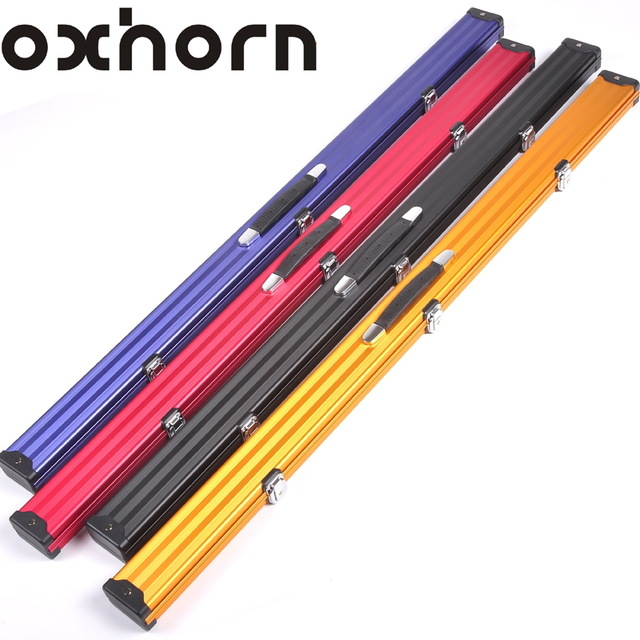 Brand OXHORN 3/4 snooker billiard cue case wood 3/4 Rod box billiard accessories High quality billiards pool stick 3 4 cases(China (Mainland))