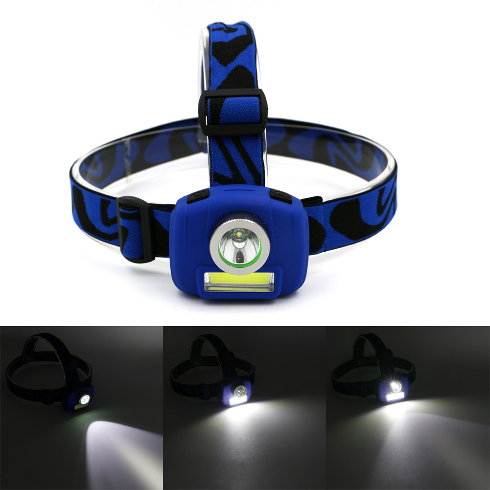 Super Bright Mini Headlamp COB+LED Headlight Torch Lamp 3 Models Head Lamp fishing Light(China (Mainland))