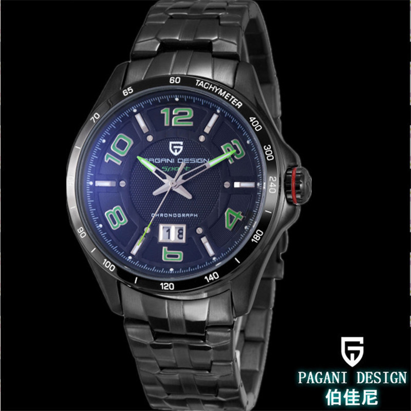Pagani Design Luxury brand fashion leisure men quartz watch stainless steel strap calendar waterproof function free shipping<br><br>Aliexpress