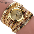 Excellent Quality Duoya Fashion Women Bracelet Watch Quartz Watch Wristwatch Women Dress Leather Bracelet Watches Montre