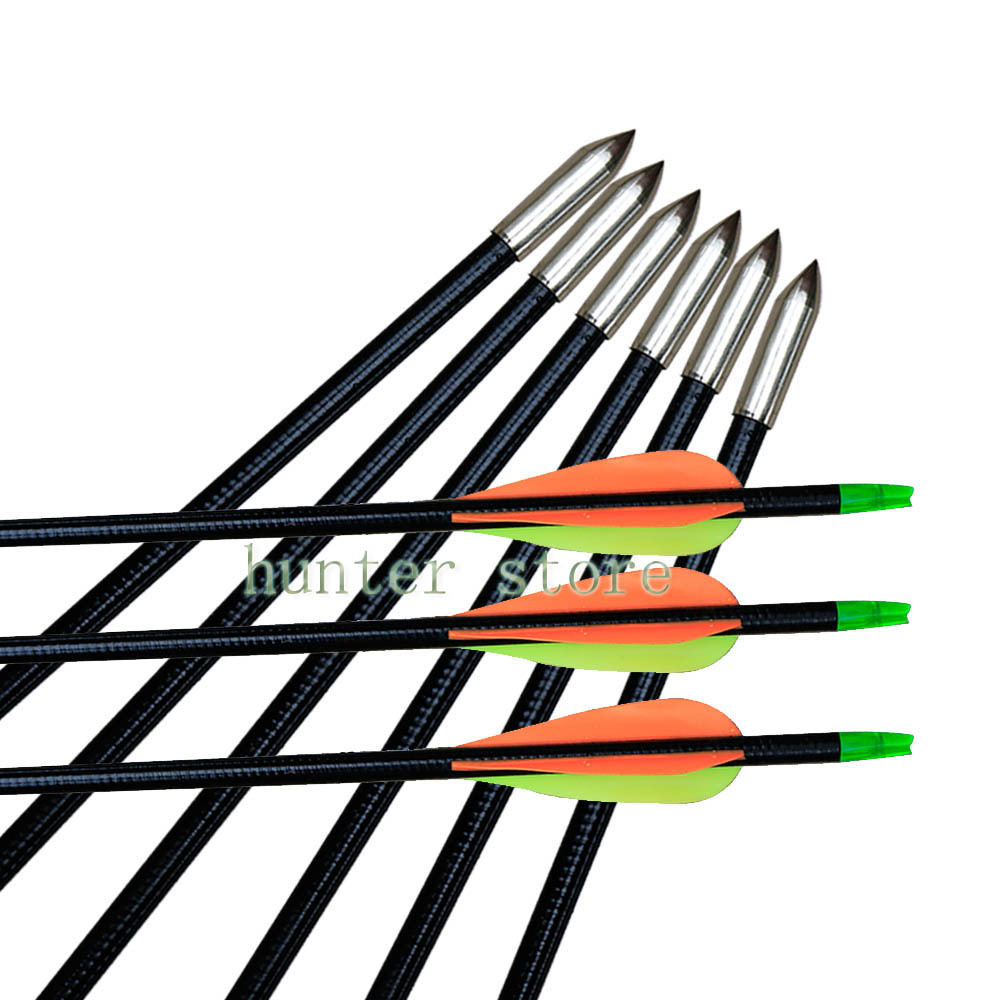 6pcs archery fiberglass arrow 32 target practice arrow tip for 45lbs china wood recurve horsebow<br><br>Aliexpress