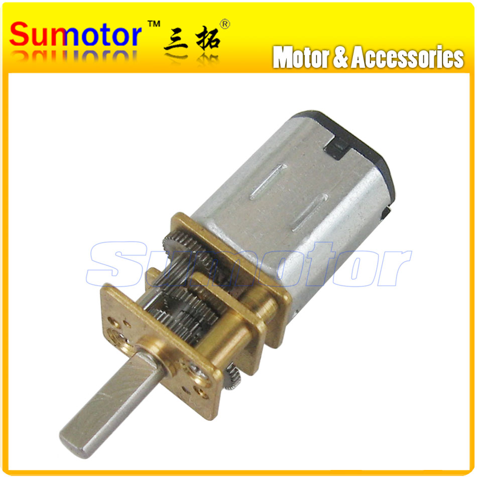 12GA DC 3V Miniature Electric Reduction Gear Motor Metal Gearbox for RC robot model Toy DIY engine Camera motor Optional speed(China (Mainland))