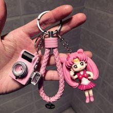 1 pedaço Bonito Janpanese Anime Sailor Moon Sailor Moon Luna Cat Figura Presente do Anel Chave Chaveiro Toy Figuras de Ação(China)