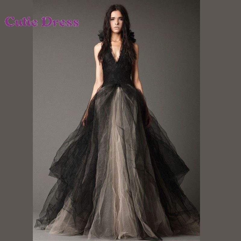 Black vampire wedding dresses gorgeous black wedding for Black designer wedding dresses