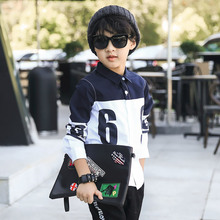 Nana Lara Korean boy shirt 2016 new autumn clothing children's Digital Print Shirt 301