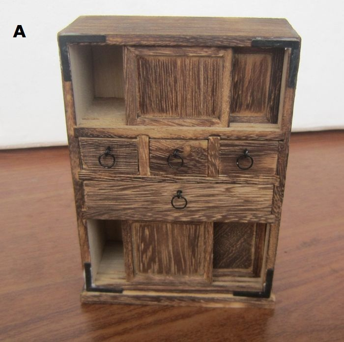 Handmade antique wooden cabinet living room ornament new home mini furniture model nostalgia in Old wooden furniture