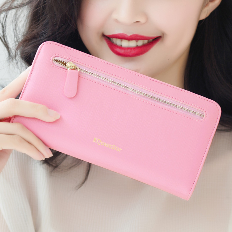 2015 new fashion women wallets cross-section zipper hasp long wallet lady wallet cluch purse large capacity more card place(China (Mainland))