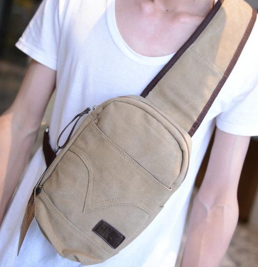 Men Canvas Travel Hiking Messenger Shoulder Bag Cross Body Back Pack Sling Chest Crossbody Sports - Tings'store store