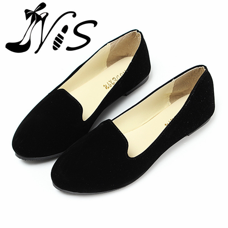 Гаджет  Hot Ladies Suede Leather Ballerina Dolly Womens Flats Ballet Pump Shoes Loafers Princess Shoes Outsole Comfortable Wholesale None Обувь