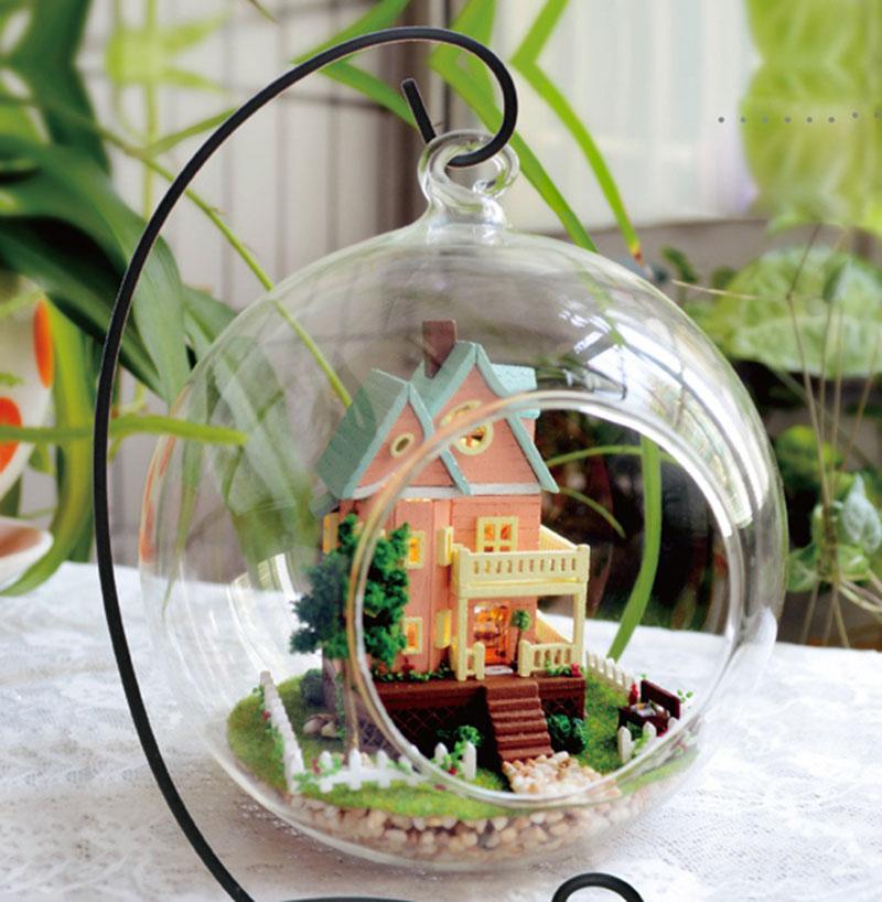 Assemble DIY Doll House Girlfriend Boyfriend Gift Kids Christmas Present Handmade Room Box Wooden Miniature Dollhouse Kit(China (Mainland))