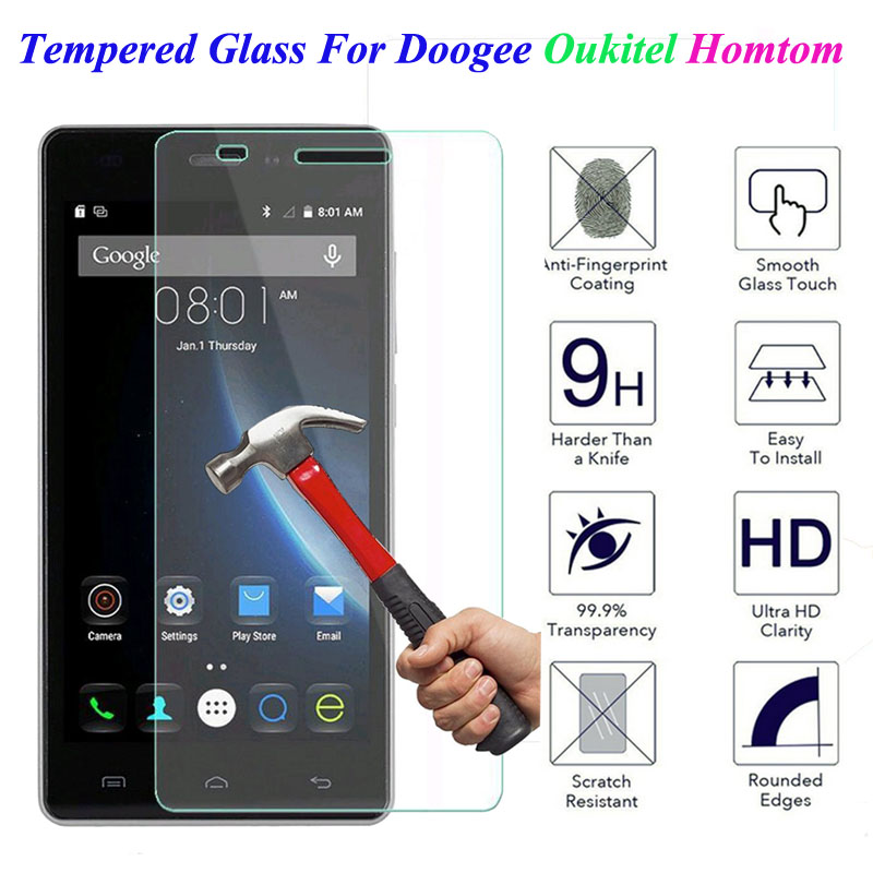 9H Tempered Glass Doogee X5 Max Pro X6 X3 F5 Y100 Y300 Oukitel K6000 Homtom HT3 HT6 HT7 Pro HT17 Screen Protector Cover Film