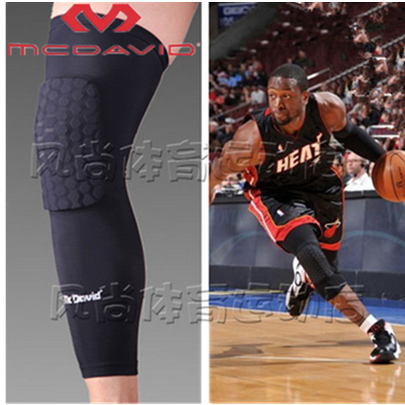 50High Quality Mcdavid Breathable Basketball Football Sports Kneepad Shank Honeycomb Knee Pad Bumper Tight Protective Kneelet(China (Mainland))