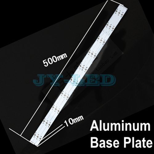 10pcs/lot 10w 30w 500mm x 10mm Rectangle Aluminum Base Plate for LED Lamp, Support 10 Piece Diode to Soldering In The Lamp Panel(China (Mainland))