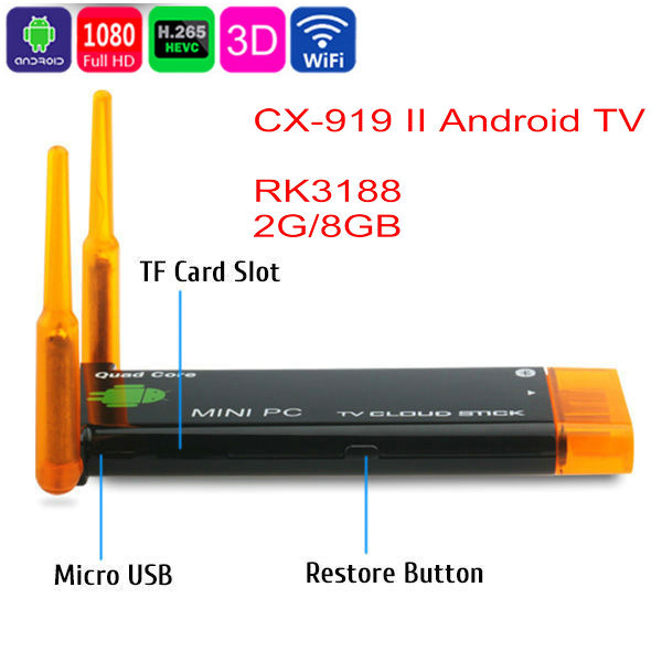 Android 4.4Dual OS Mini PC 2GB / 8GB Quad-Core TV Player Compute Stick WiFi HDMI Media Smart Receiver  -  Hengyou Electronics Co., Limited store