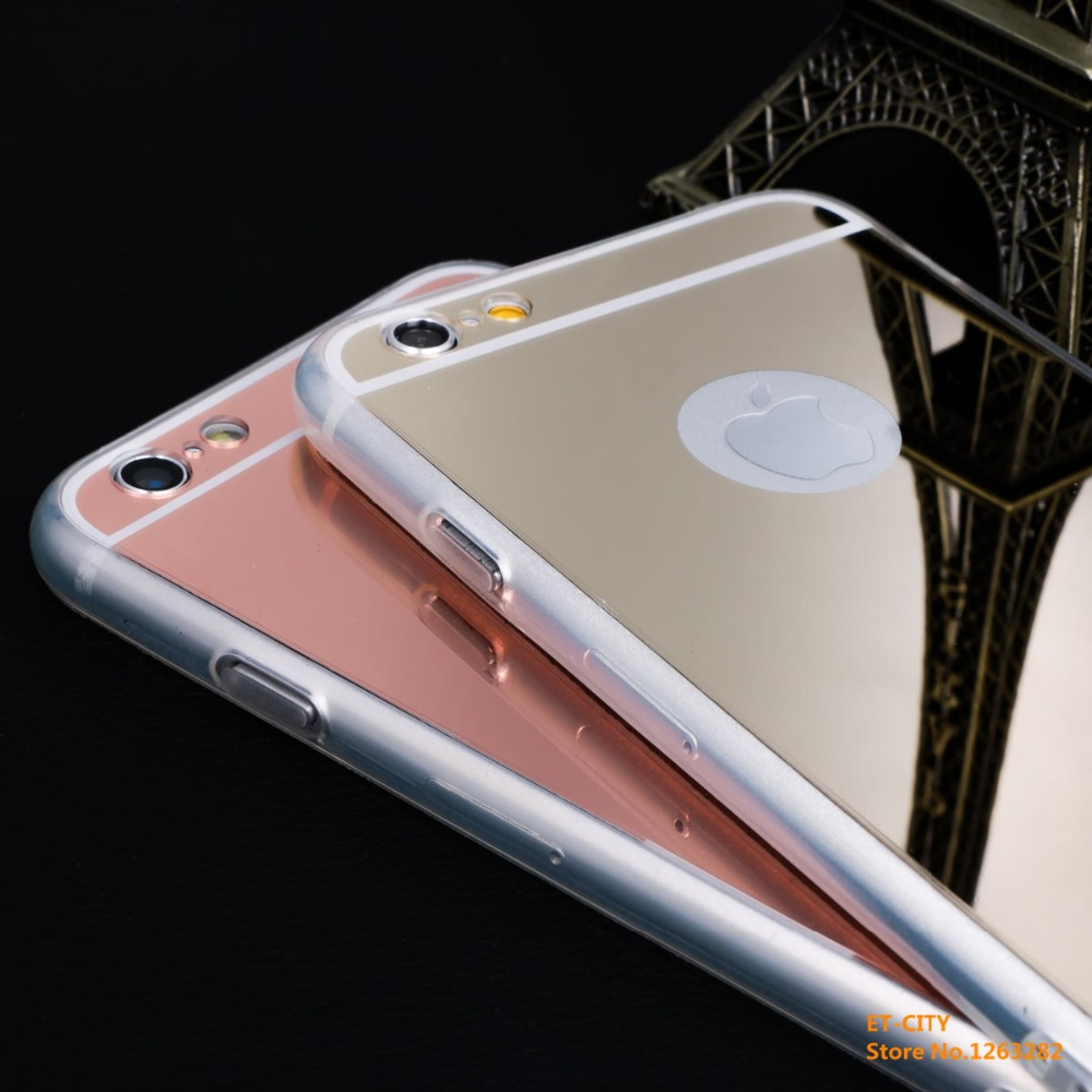 New Luxury Electroplating Mirror Soft TPU Business Phone Back Cover for iphone 6plus 5.5inch Cases Christmas Gift Free Shipping(China (Mainland))