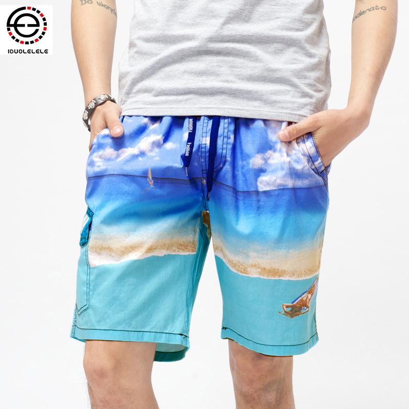 2016 New Fashion Big Size Elastic Waist Casual Shorts For Men Shorts Beach Board Shorts Bermuda ...