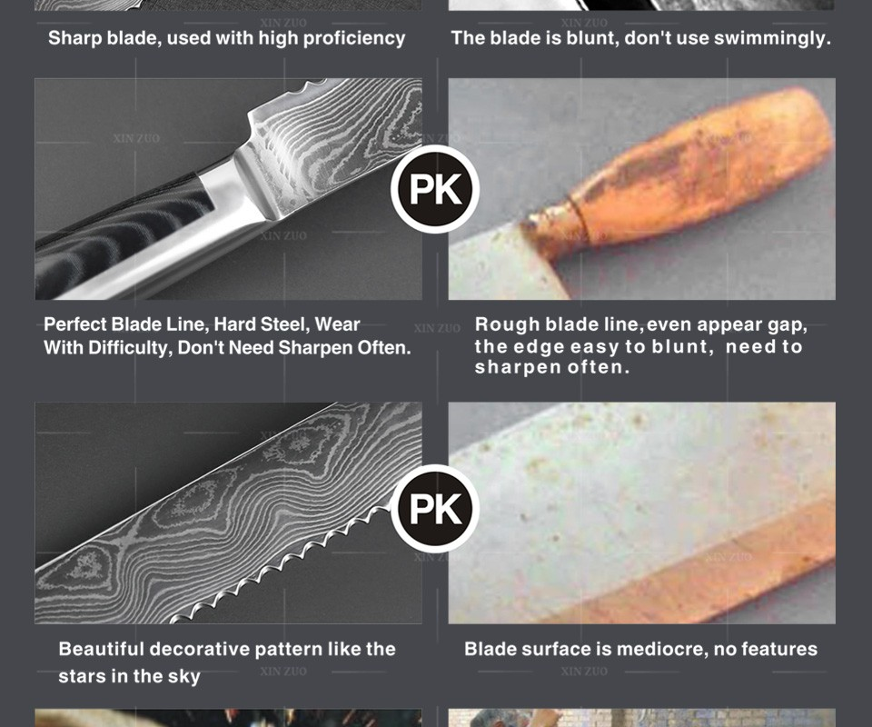 """Buy XINZUO NEWEST HIGH QUALITY 8"""" Japanese VG10 Damascus steel kitchen Bread knife with forged Dark Micarta handle free shipping cheap"""