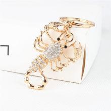 Moda Escorpião Nova Bonito Pingente de Cristal Bolsa Charme Chave Do Carro Chaveiro Chaveiro Criativo Bom Presente de Aniversário Festa de Casamento(China)