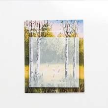 لوحة المناظر الطبيعية مذكرة الوسادة مخطط مثبت ملاحظات ورقة ملصق المفكرة kawaii القرطاسية pepalaria مكتب اللوازم المدرسية(China)
