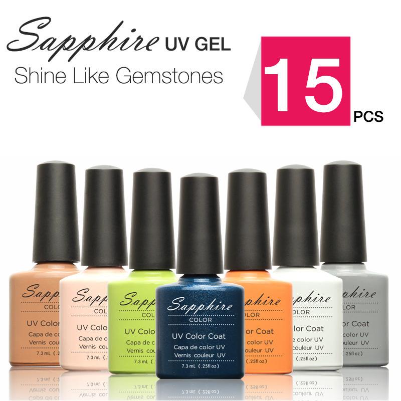 1Sapphire Nail Gel Newest 159 Fashion UV Polish 7.3 ML Soak Led - WOVJ Beauty Shop store