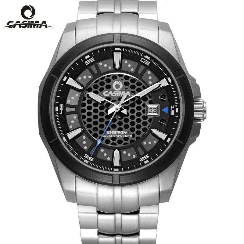 fashion casual solar sapphire watches men luxury brand casima 9905 quartz watch wristwatches diving 100 M waterproof(China (Mainland))