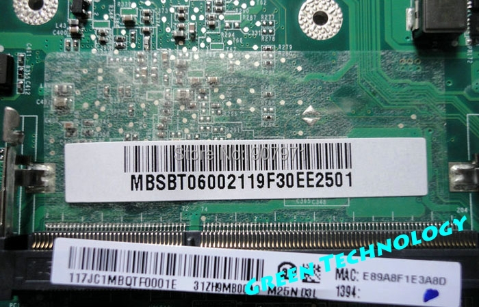 Free shipping for Acer ZH9 A0521 CPU1.2G MBSBT06002 MB.SBT06.002 laptop motherboard verified working<br><br>Aliexpress
