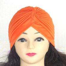 2019 банданы женские Эластичный Тюрбан мусульманская шапка основа Женская Chemo хиджаб завязанная индийская шапка взрослый головной убор для ж...(China)