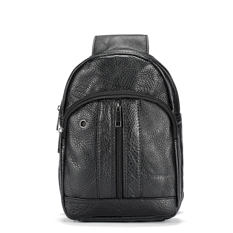 Men bags leather wax chest pack large Korean package men messenger bag man mobile bag 2016 chest pack fashion cowhide(China (Mainland))