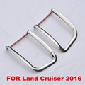 2016 ABS Chrome Tail Fog Lamp Cover For Toyota Land Cruiser V8 LC 200 Accessories