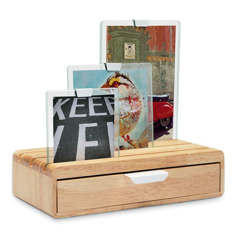 Wood drawers Desktop Multifunction jewelry storage box frame photo swing sets(China (Mainland))