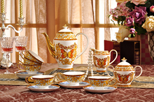 Exquisite ceramic Coffee cup set tea set coffee European royal style teapot cup set butterfly coffee